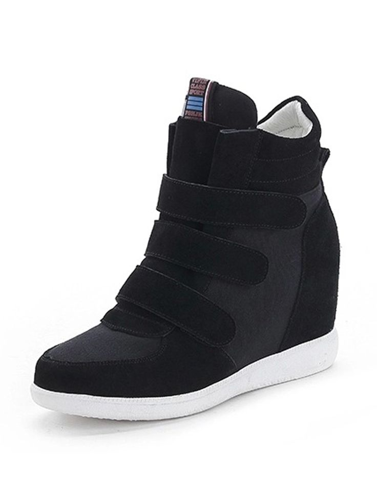 Supra Black Patch Velcro Strap Sneakers | Choies