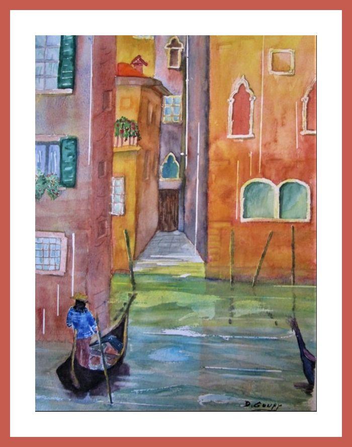 Canal A Venise Mes Aquarelles En 2019 Aquarelle Venise Et Canaux