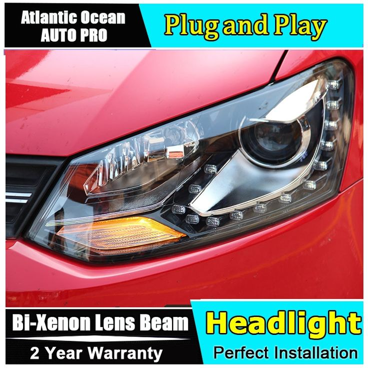 502.90$  Buy here - http://alibre.worldwells.pw/go.php?t=32657602905 - car styling For VW polo headlights angel eyes DRL 2011-2015 For VW polo LED light bar DRL Q5 bi xenon lens h7 xenon 502.90$