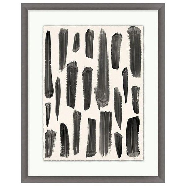 Pottery Barn Brush Trails Framed Print 1 ($249) ❤ liked on Polyvore featuring home, home decor, wall art, animal wall art, pottery barn wall art, framed wall art, forest wall art and giclee wall art