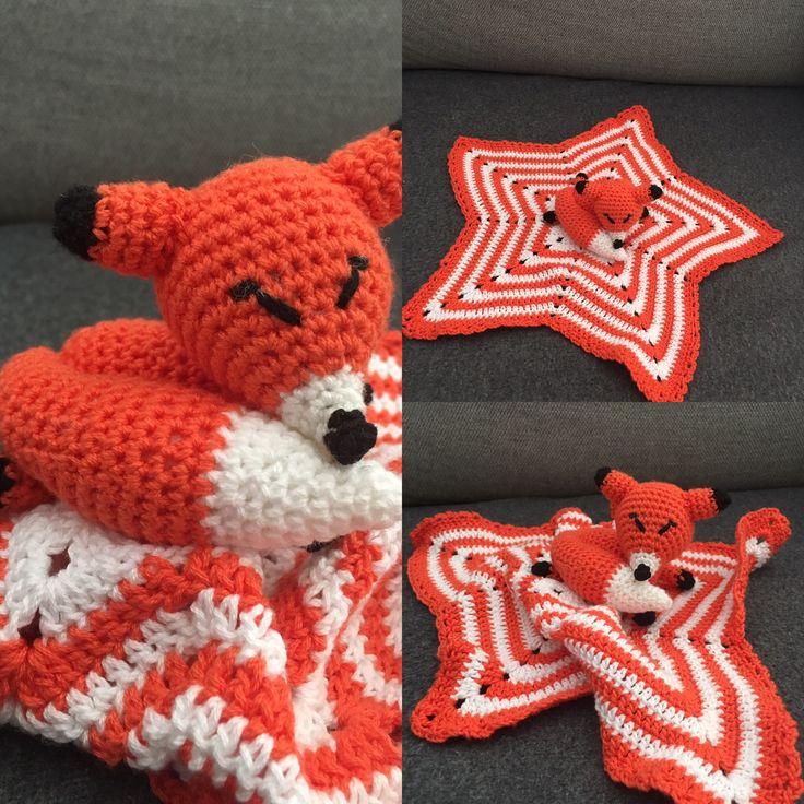 Manta de apego zorrito dormilón crochet