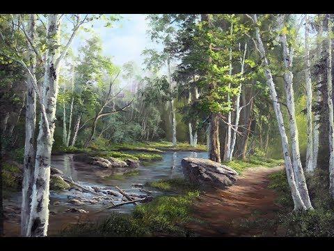 Acrylic Landscape Painting Lesson - House Beside the Waterfalls by JMLisondra - YouTube