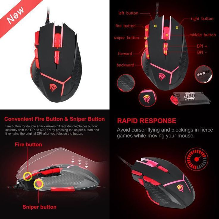 Gaming Mouse 4000 DPI Wired Computer Usb Buttons Professional LED 9 Buttons http://www.onlinemouse.com/product-category/ergonomic-mouses/