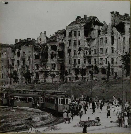 Moszkva Tér, (Széll Kálmán tér) Budapest, post-war.