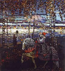 Coppia a cavallino, olio su tela, 1906, Vasily Kandinsky, Städtische Galerie im Lenbachhaus, Monaco