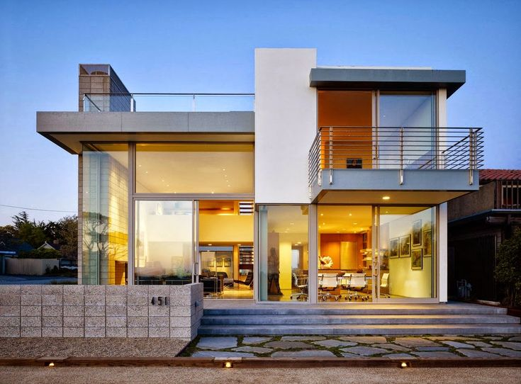 Small Modern House Plans Flat Roof 2 Floor - Home Design Architecture More