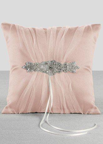 Champagne Sparkle Ring Bearer Pillow Petal