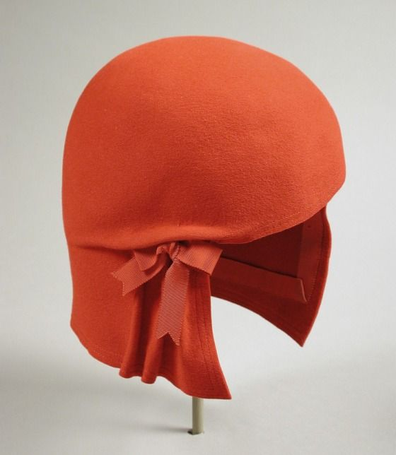 Woman's Cloche  Rudi Gernreich (Austria, active United States, 1922-1985)  United States, California, 1958  Costumes; Accessories  Wool felt, grosgrain ribbon  Size: 22 1/2  Gift of the Fashion Group, Inc. (M.73.102.10)  Costume and Textiles