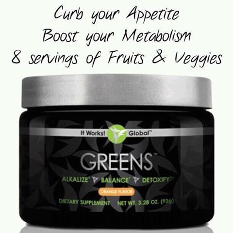 It works Greens review!  Check me out on Facebook.  Like and share my page!! https://www.facebook.com/ItWorksJustWrappinItUpWithLoriGuthrie