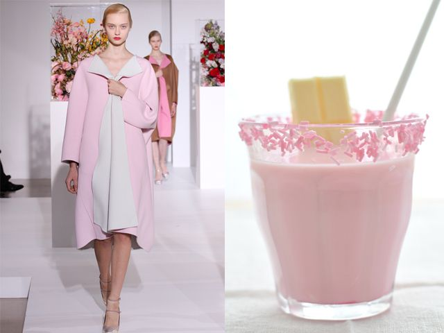 Jil Sander fw 2012-13 / Strawberry and white chocolate Smoothie