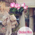 Spring Challenge: Chicken Wire Tussy Mussy