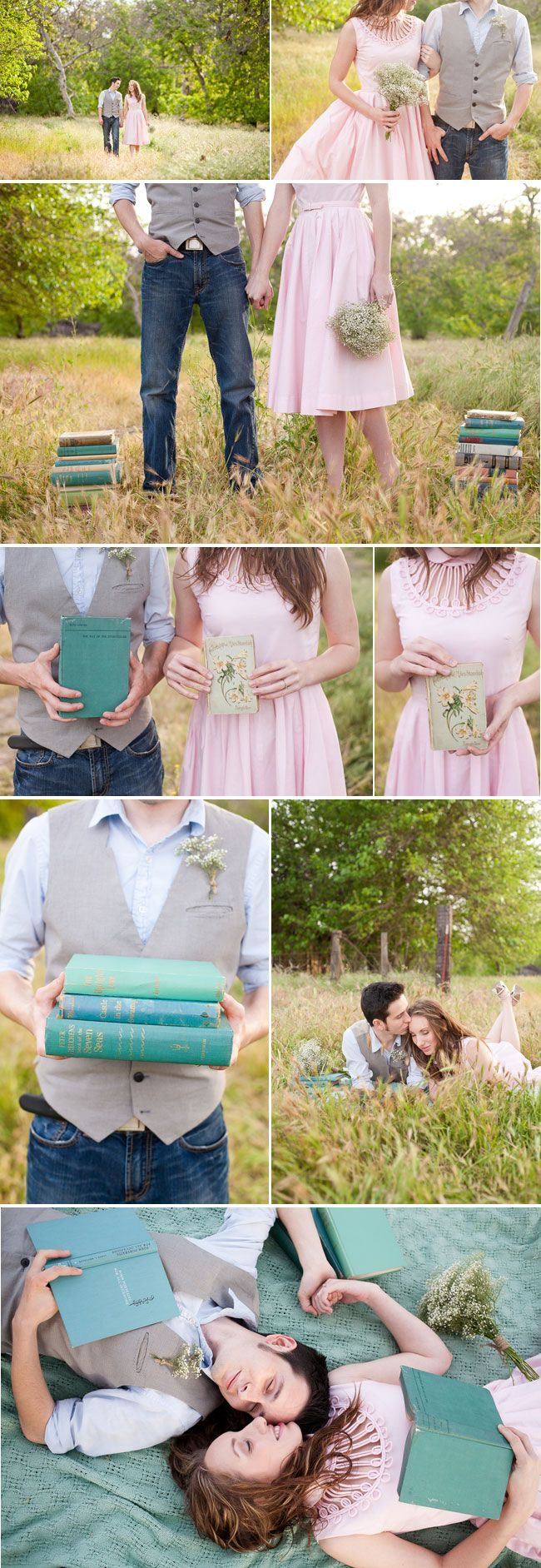 Okay, release the inner fangirl. I seriously would like a book-themed wedding!! :D