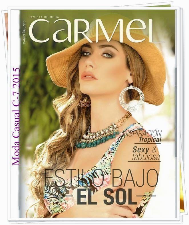 Nuevo Catalogo de Carmel Campaña 7 2015. La colección tiene variados looks para el verano, lenceria colombiana. Consulta los precios y rebajas.