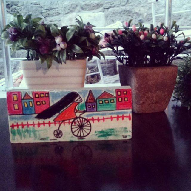 Good morning^-^ #amasra #bartin #amasrasahil #turkiye #love #friday #byme #painting #paint #boyama #akrilikboya #art #sanat #bike #woman #bisikletli #bisikletliulasim