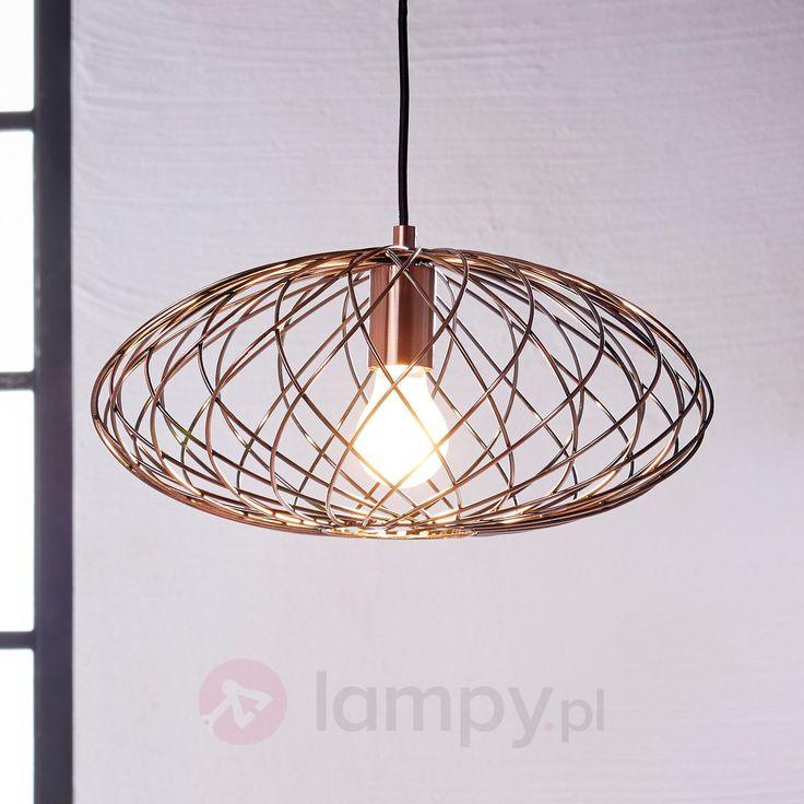 Owalna lampa wisząca Jilla z metalu bezpieczne & wygodne zakupy w sklepie internetowym Lampy.pl.