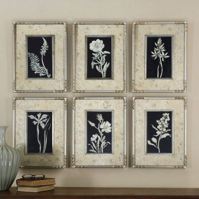 Uttermost Glowing Florals Framed Art - Set of 6 - 41535