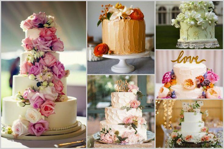 Украшение торта цветами Wedding cake and flowers