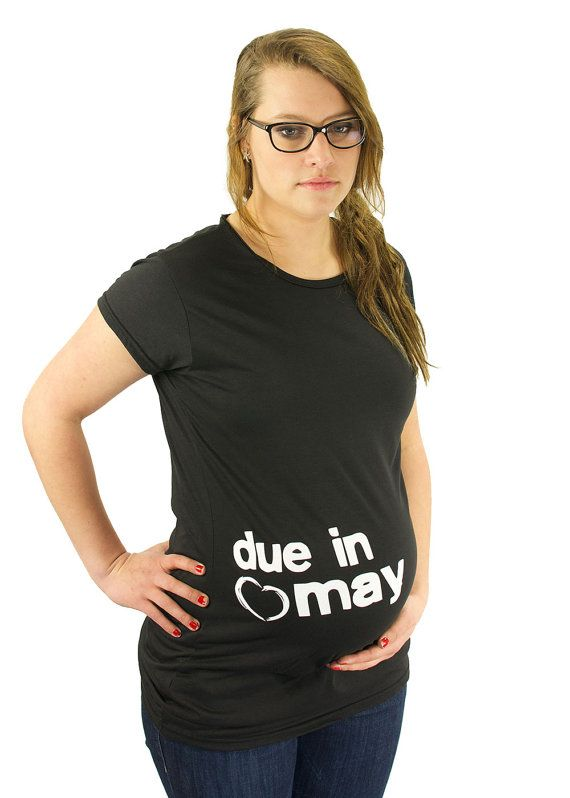 Custom Due Date Maternity T-Shirt Maternity Clothes Summer ...