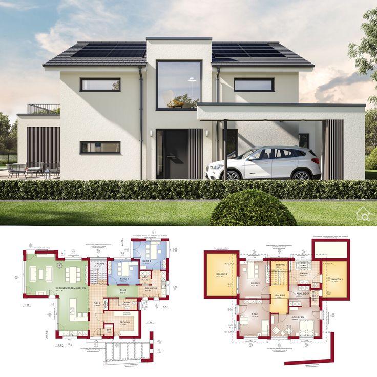 Einfamilienhaus Architektur modern mit Satteldach