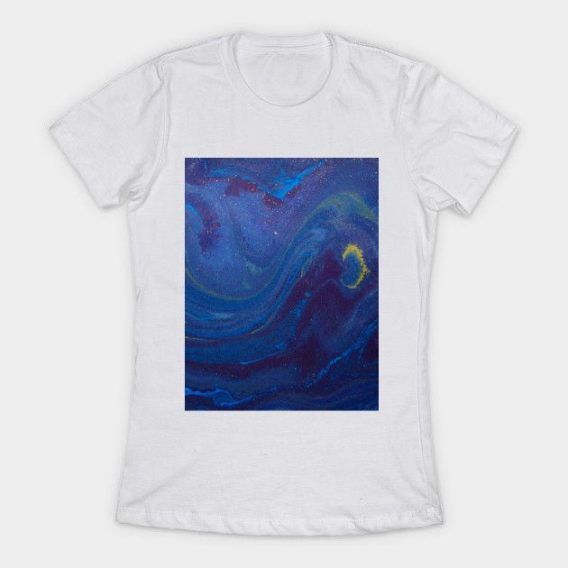 Navy Blue Starry Night Watercolor Painting Starry Night T