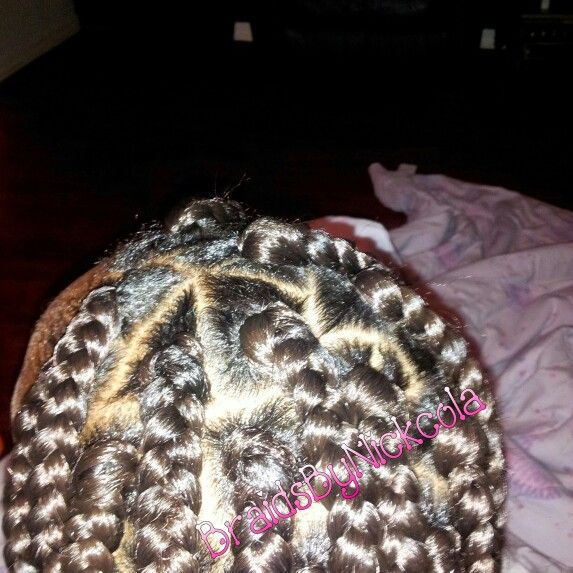 Close-up of braids using #My Rubber band Method!! #FB ...