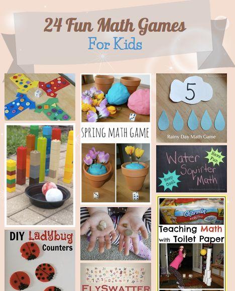 24 Fun Math Games For Kids