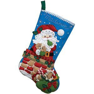 Bucilla Felt Stocking Kit, Santa's Secret **choice for Burrito