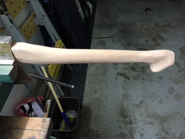Axe handle sanded