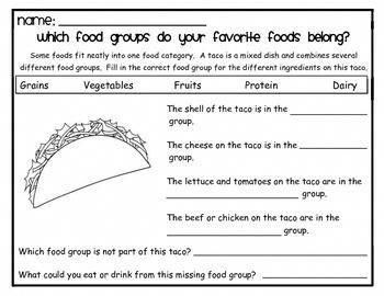 Nutrition Unit - Foods Containing More Than One Food Group