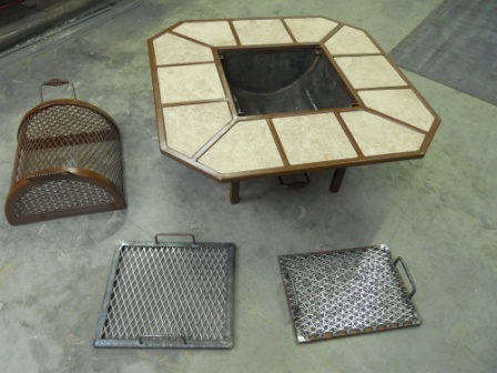 Welding Project Plans | Miller - Welding Projects - Idea Gallery - Fire Pit Table and Grill