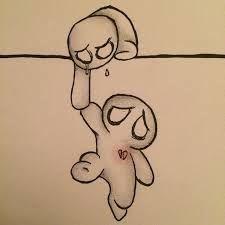 Abgerechnetes Ergebnis für trauriges Zeichnen