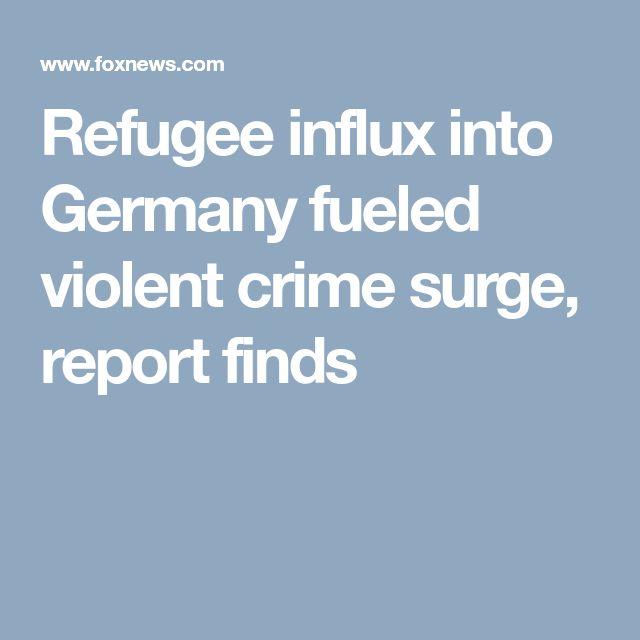 Refugee influx into Germany fueled violent crime surge, report finds