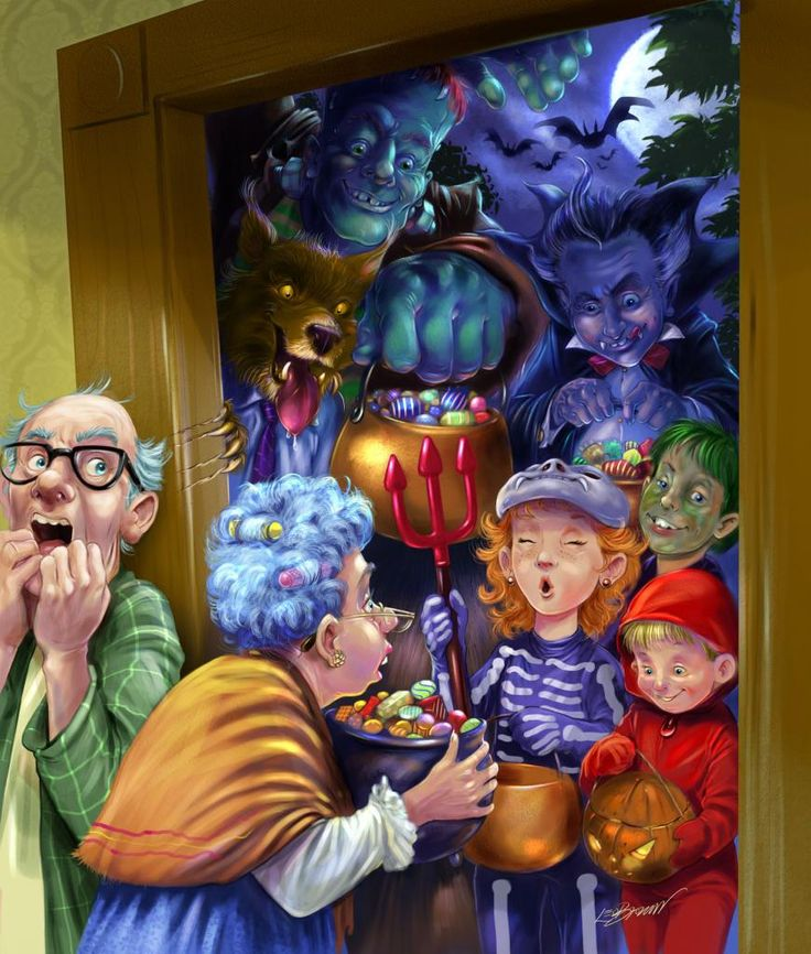 trick or treat art | Trick Or Treat by Leo Brown
