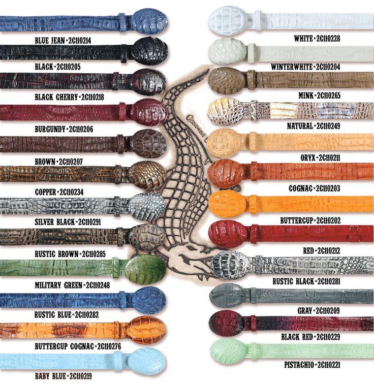 Genuine Caiman Gator Belt Western Style #WESTERN #CowboyWestern