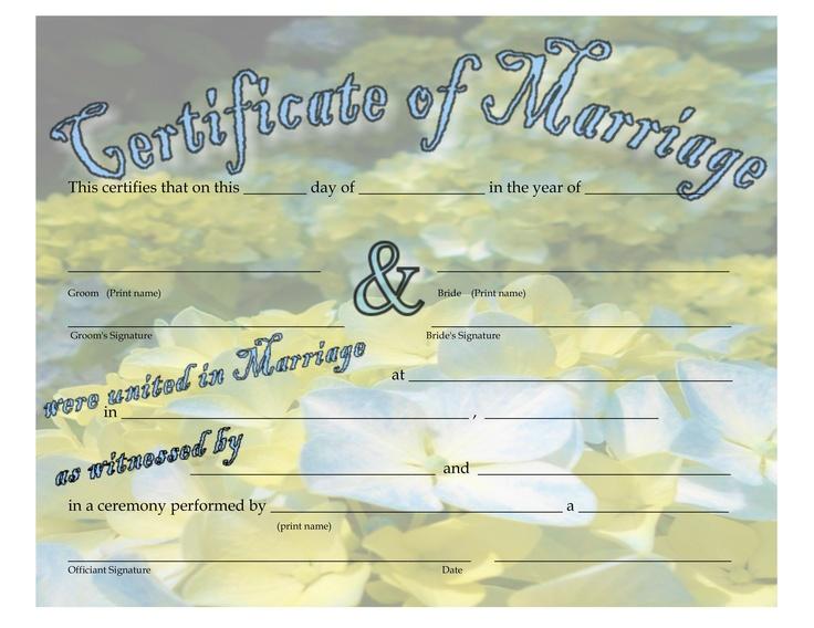 Blue Hydrangea Marriage Certificate - 85 - marriage certificate