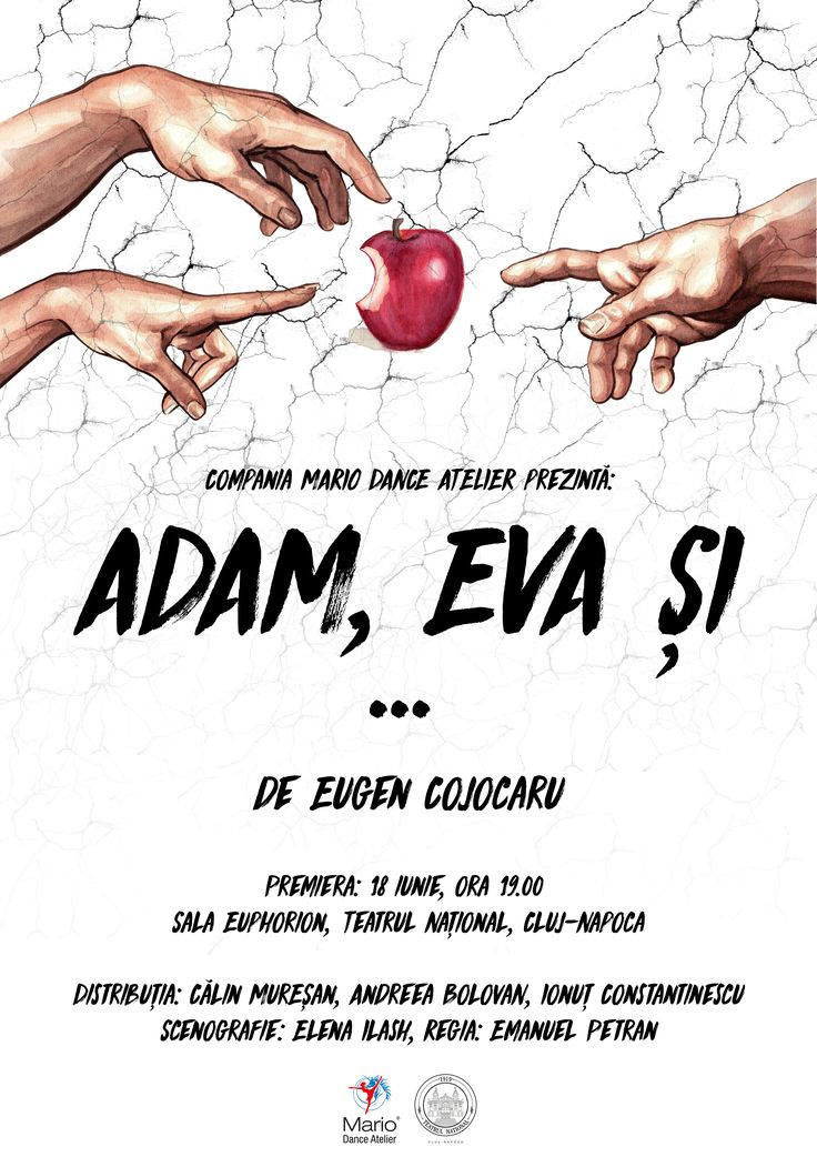"""CONCURS clujescu.ro. Nu rataţi şansa de a câştiga bilete la spectacolul de teatru """"Adam, Eva şi… """"!http://clujescu.ro/2017/06/08/concurs-teatru-adam-eva-si/"""