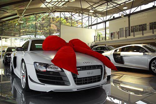 cool, white, car, audi, gift, beautiful