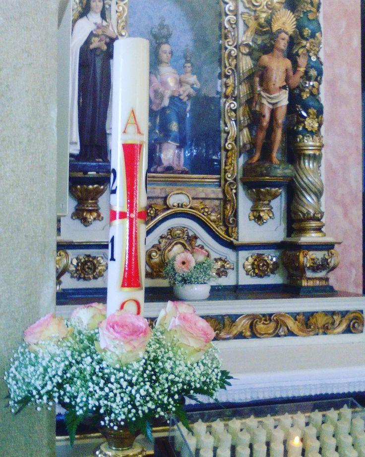 Círio  Decoração Casamento  Igreja  Flores