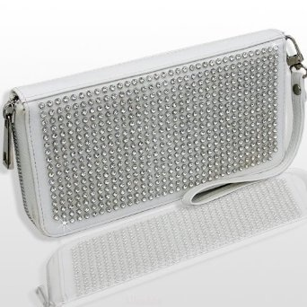 Amazon.com: HOT HOT HOT Our #1 BESTSELLER Crystal & Rhinestone BLING DOUBLE SIDED WALLET/WRISTLET w/ziptop by Jersey Blin: Clothing