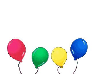 Collection of animated balloons gif images for Happy Birthday wishes | Happy Birthday Gif