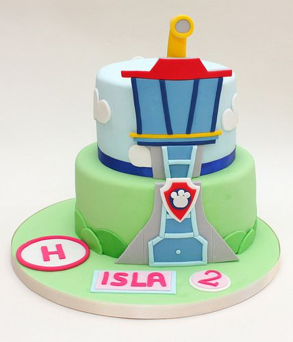 paw patrol lookout tower cake | A 2D design for the lookout … | Flickr
