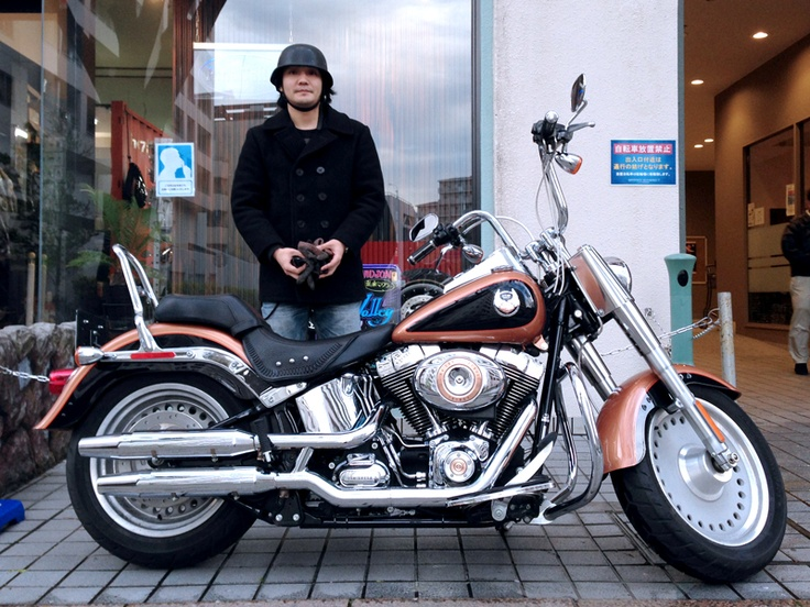 Harley Davidson Softail FATBOY+U.S.Muffler with Punch-out12mm