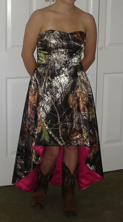 17 best images about lace dresses on pinterest short a for Mossy oak camo wedding dress