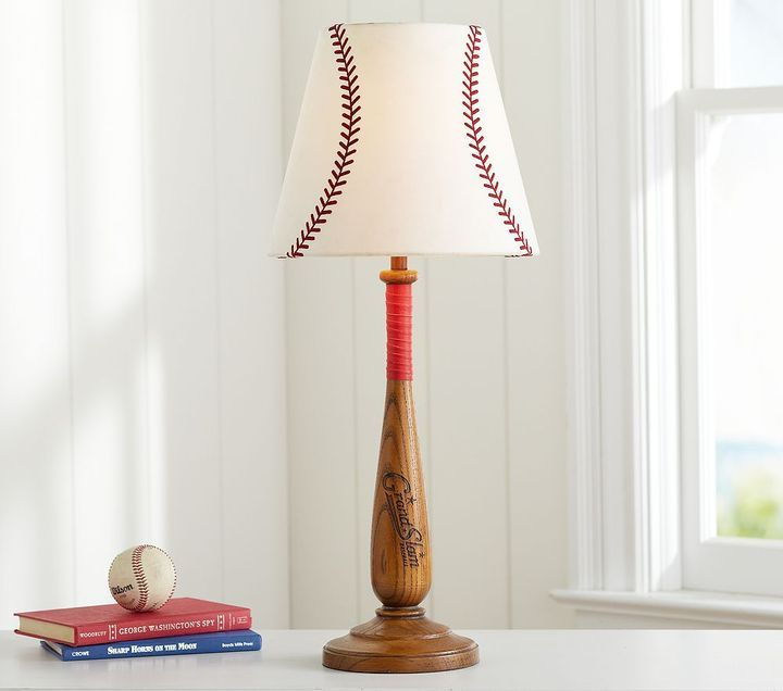 I Love This Lamp For Charlies Baseball Room