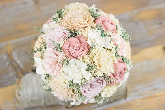 Bridal Bouquet Baby Pink Dusty Pink Tan Sola Flower