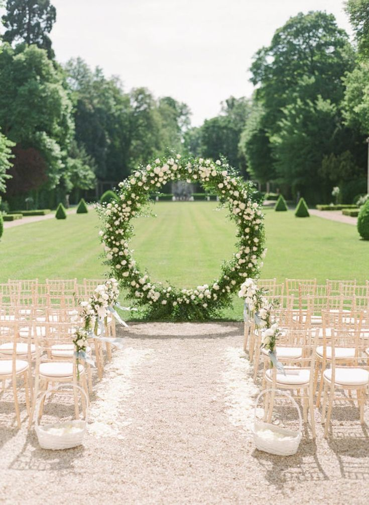 6.9ft Сircle Wedding arch Wedding ceremony decor Flower