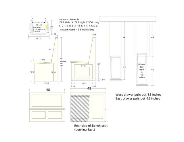 Custom booth dimensions kitchens forum gardenweb for Plan banquette cuisine