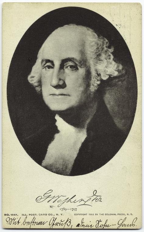 Джордж Вашингтон Oткрытка