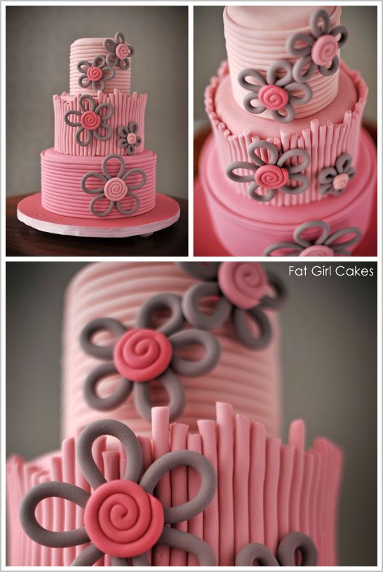 Loving this quilled flower design from Fat Girl Cakes! Simply stunning!