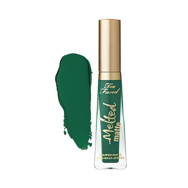 Too Faced Melted Matte Liquified Long Wear Green Lipstick - Wicked fl oz. / 7 mL) Melted Matte Too Faced, Lip Makeup, Makeup Cosmetics, Long Wear Lipstick, Green Lipstick, Melted Lipstick, Body Works, Hair And Nails, Wicked